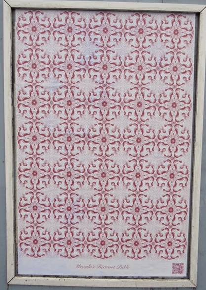 Tiled image of beetroot by artist Elizabeth Kwant