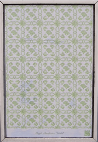 poster of a tiled image of elderflowers by artist Elizabeth Kwant
